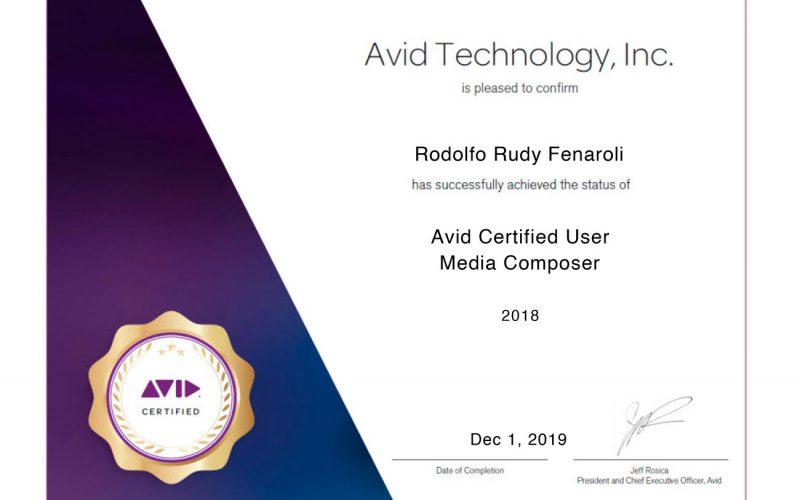 AVID Certificazione in Media Composer che fornisce credenziali riconosciute dal settore Montaggio ed Effettistica