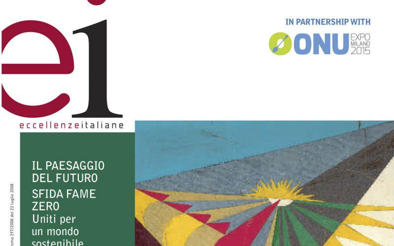 Official Media Partner dell'ONU at EXPO Milan 2015 attraverso la partership con il magazine Eccellenze Italiane